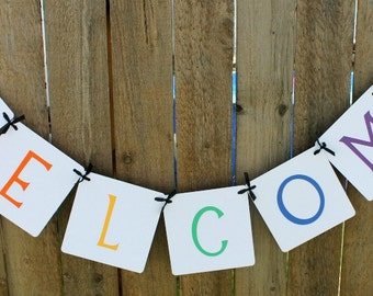 Welcome Banner, Teacher Banner, Classroom Decoration, 1st Day of School, Classroom Decor, Welcome Students, School Banner, School Garland