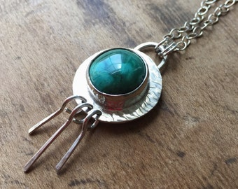 Turquoise Necklace with Fringe