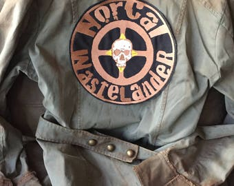 10 inch Embroidered NorCal Wastelander Back Patch