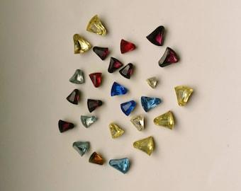 Bell Rhinestones 10 mm & 8 mm, Vintage Glass, Vintage Rhinestone Bells, Crystal Glass Jewels Czech 24 pcs - DESTASH by enchantedbeas on Etsy