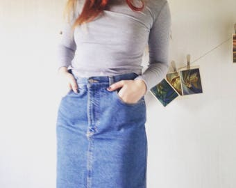 Vintage  denim high waist Skirt  38/M SIZE