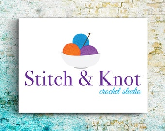 Premade Logo Crochet, Knitting Business, Cutomizable