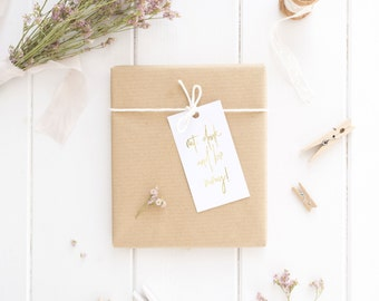 Gold Foil 'Eat, Drink & Be Merry' Gift Tags