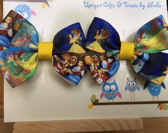 Beauty and the Beast; Belle Hair Bows