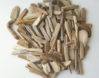110 tiny driftwood pieces, Bulk driftwood, Driftwood pieces, Wood Art supply, Driftwood Crafts, Driftwood pieces 0.4'' - 2.75''
