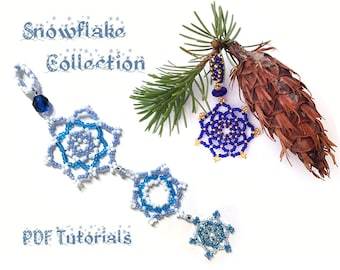 Beaded Snowflakes PDF Tutorial Collection - Snowflakes & Stars and Snowflake Chains
