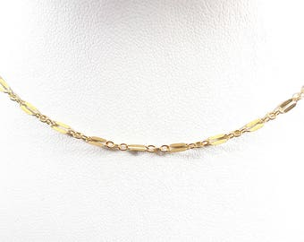 Delicate Choker Necklace/ Long and Short Dapped Sequin Chain Choker  / Chain Choker/ 14k Gold Filled Chain Choker/ CN08