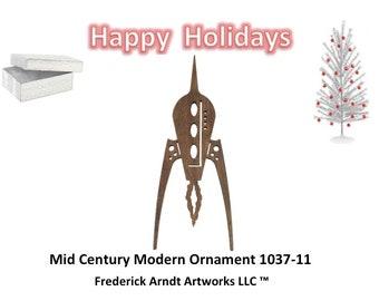 1037-11 Mid Century Modern Christmas Ornament