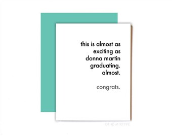 Beverly Hills 90210 Card, Congratulations, Pregnancy, Graduation - Donna Martin Graduates