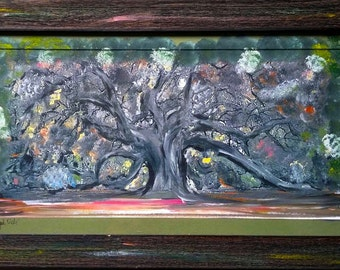 Angel Oak Painting (Matted and Framed)