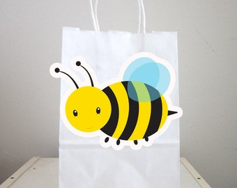 Bumble Bee Goody Bags, Bee Goody Bags, Bee Favor Bags, Bee Party Bags, Bee Gift Bags