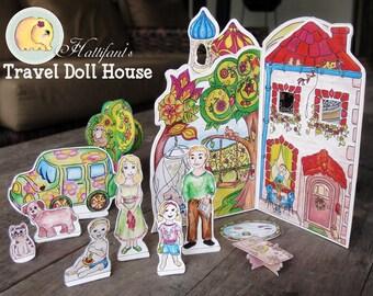Dollhouse Figures & Accessoires DIY Printable for Cardboard