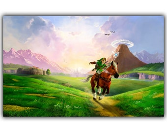 Legend Of Zelda Home Decor Room Decoration Poster Art Print Silk Poster  15x26inch Or Any Size