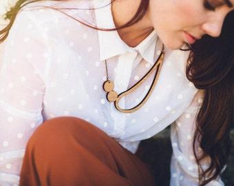 Statement necklace - wooden necklace - Australian jewellery - bib necklace - statement jewellery - unique necklace