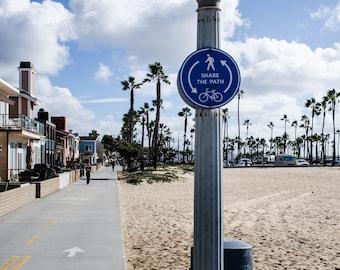 Balboa and Newport Beach bike path P1137