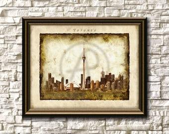 Toronto Watercolor Skyline Tower,Toronto Art,Toronto Canada,Wall Art,Toronto Cityscape,Home Decor,Toronto Printable,Poster,Instant Download
