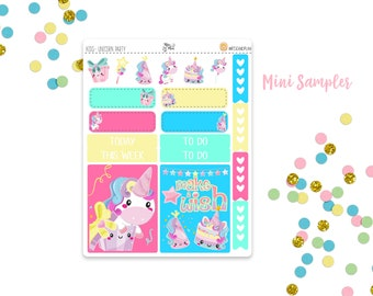 Unicorn Party- Mini Sampler Planner Stickers