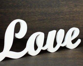 Wooden Love Sign -  Letters for Wedding Decor or Valentine's Day. Great Bedroom Sign or Gift for Wedding.
