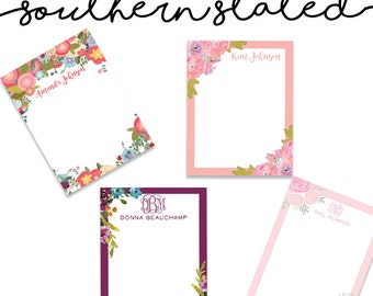 Floral Print Notepads