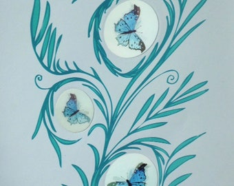 Animated Butterflies Print (L)