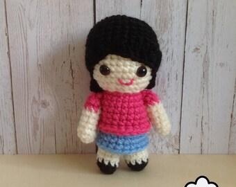 Crochet pattern doll: Girl Doll Crochet Pattern Amigurumi Olivia