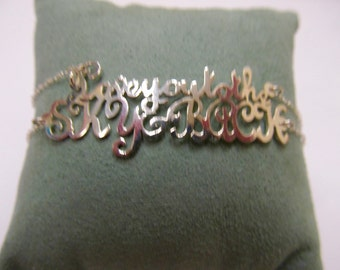 Sterling Silver I Love You To The Sky and Back Bracelet Item W # 295