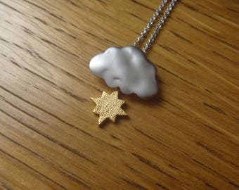 Golden Sun, cloud of autumn: necklace
