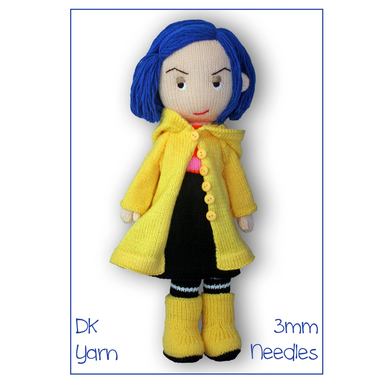Coraline doll pdf download knitting pattern