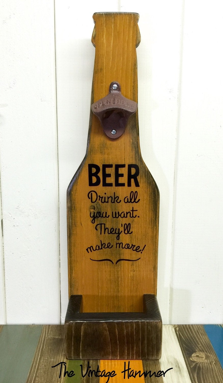 wood bottle opener wood sign sayings bottle opener kitchen. Black Bedroom Furniture Sets. Home Design Ideas