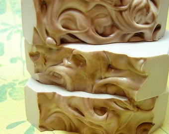 Cracked Amber. Handcrafted Cold Process Shea Butter Soap