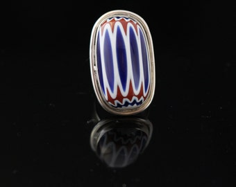 Sterling Silver African trade Bead Ring