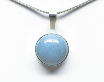 Leland Blue - Sterling Silver Pendant - 12mm Round