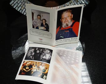 Memorial Keepsake Booklet