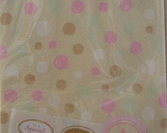 Un insieme di 6 giapponese Kraft sacchetti regalo - puntini