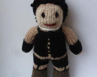 Frank N Furter (Rocky Horror) knitted doll