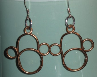 Wire Wrapped Monkey Earrings MADE to ORDER