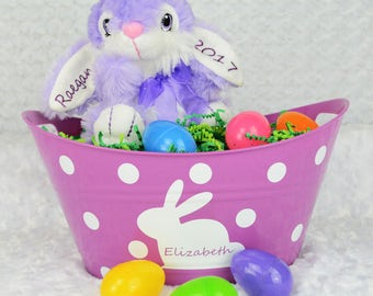 Purple Bunny Stuffy - Easter Gift - Personalized Gift - Easter Bunny
