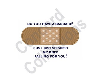 Bandaid - Machine Embroidery Design, Falling For You, Bandage