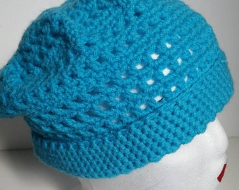 Turquoise slouch beanie