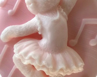 10 BUNNY BALLERINA SOAP favors! 100% Natural  For Baskets, Gifts, Guest  Gift Decorative, Soaps Homemade, Floral Soaps Choose: Scents Color