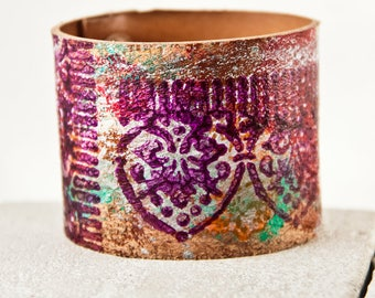 Multi Color Cuffs Bracelets - Orange, Green, Purple, Red, White, Silver - Colorful Festival