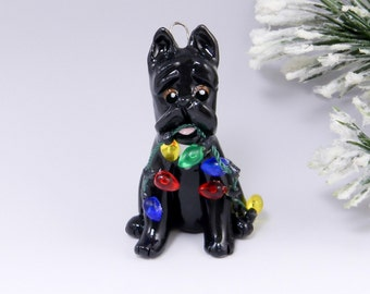 Cane Corso Ornament Christmas Lights Porcelain Clearance