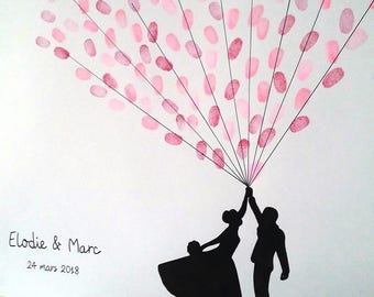 tree footprints balloons. wedding for 100-120 people. 1 pad with 4 colors available