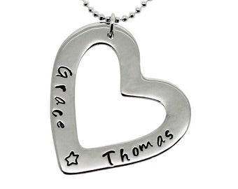 Heart of Love Sterling Silver Necklace, Mothers day, gifts for mum