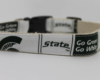 Michigan State University hemp dog collar or leash