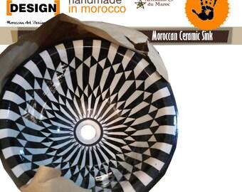 Marokkanische  Keramik  100% Handarbeit Waschbecken direkt vom Hersteller