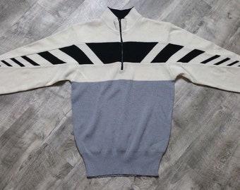 Vintage Obermeyer Men's Crest 1/4 Zip Wool Sweater size Medium