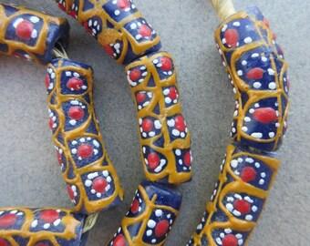 Krobo Glass Beads (10x20-29mm) [67200]