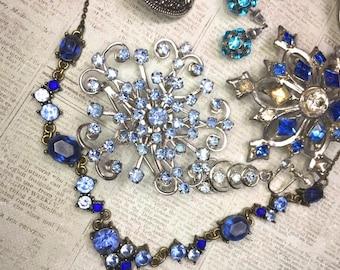 Junk Jewelry Lot-Blue #3