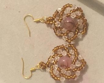 The sunshine flower earrings